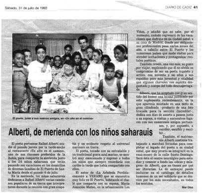 Nota de prensa 31.07.1993: primer año del programa Vacaciones en Paz
